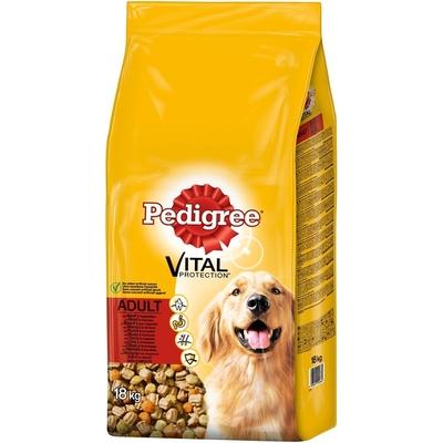 Pedigree Hundefutter Trocken Adult mit Rind & Gemüse, 18kg
