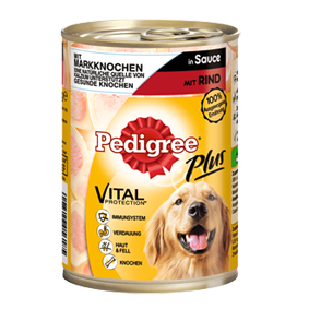 Pedigree Plus Hundefutter Dose Adult Plus