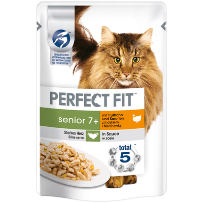 Perfect Fit Senior 7+ - Portionsbeutel mit Truthahn & Karotten