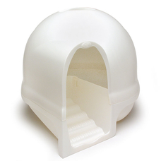 Petmate Katzentoilette Booda Dome Cleanstep, perlmuttweiß