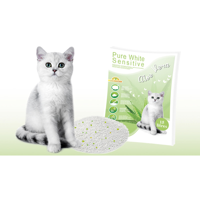Europet-Bernina Pure White Sensitive Katzenstreu Aloe Vera