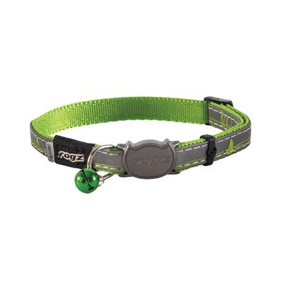 NightCat - Katzenhalsband mit Glöckchen, Limeswallows - Gr. S