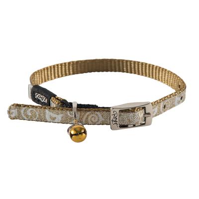 SparkleCat - Glitzer-Katzenhalsband mit Glöckchen, Gr. XS - Gold