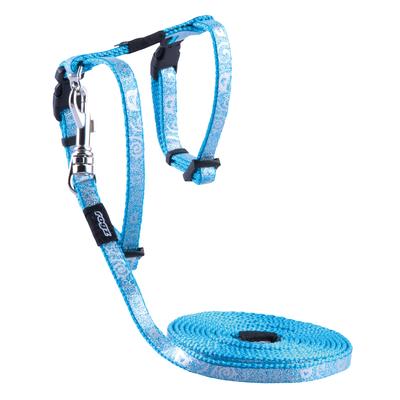 Sparklecat - Glitzer-Katzengeschirr mit Leine, Gr. XS - Turquoise