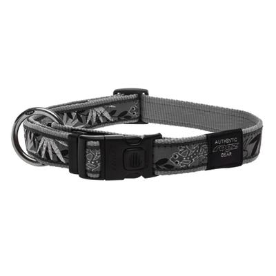 Rogz Fancy Dress Hundehalsband, XXL: Special Agent - Silver Gecko