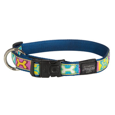 Rogz Fancy Dress Hundehalsband, XXL: Special Agent - Pop Art Navy
