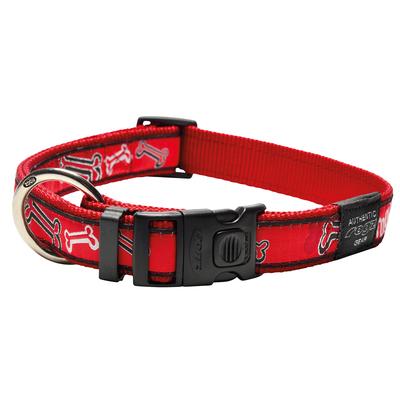 Rogz Fancy Dress Hundehalsband, XXL: Special Agent - Red Rogz Bone
