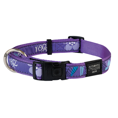Rogz Fancy Dress Hundehalsband, XXL: Special Agent - Purple Forest