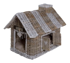 Happy House Rattan Villa für Hunde und Katzen