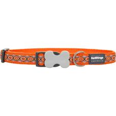 Red Dingo Halsband Design Snake Eyes Orange