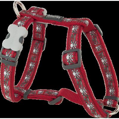 Red Dingo Hundegeschirr Design Skull Red