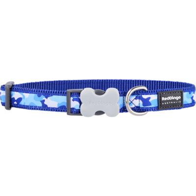 Red Dingo Hundehalsband Design Camouflage Navy