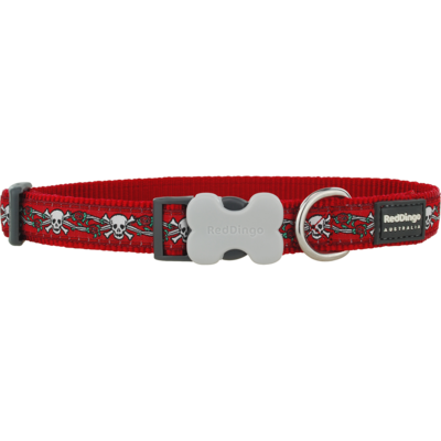 Red Dingo Hundehalsband Design Skull Red
