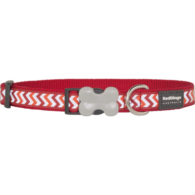 Red Dingo Hundehalsband Reflective Ziggy Red