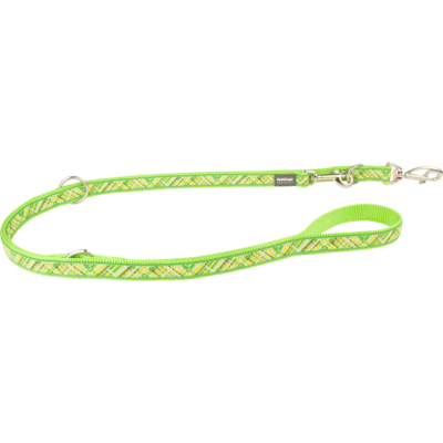 Red Dingo Hundeleine Design Flanno Lime Green