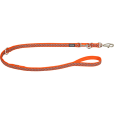 Red Dingo Hundeleine Snake Eyes Orange