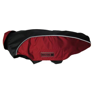 Regenmantel Easy Rain für Mops & Co, 34cm schwarz/rot