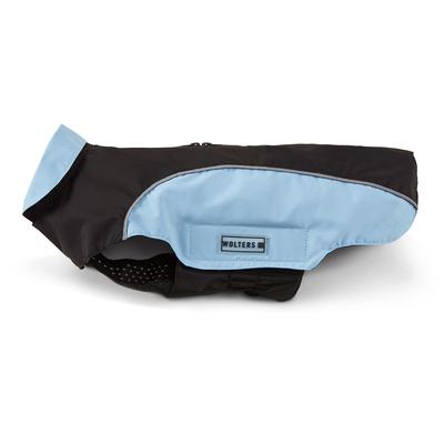 Regenmantel Easy Rain für Mops & Co, 38cm schwarz/sky blue
