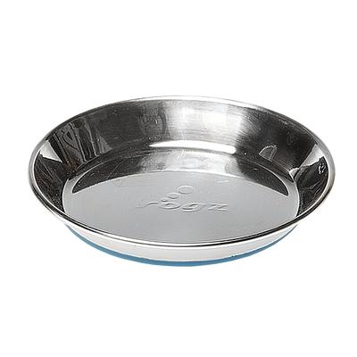 Rogz Bowlz , Katzennapf aus Edelstahl, Blue