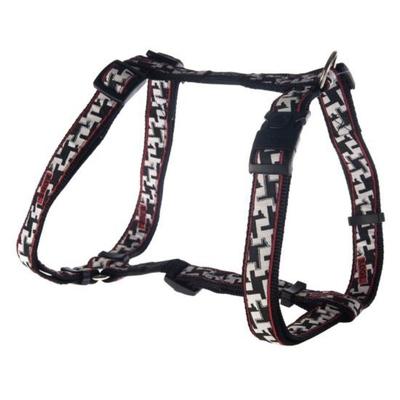 Rogz Fancy Dress Cool Graphics Hundegeschirr, XL: Armed Response - Hound Dog Black