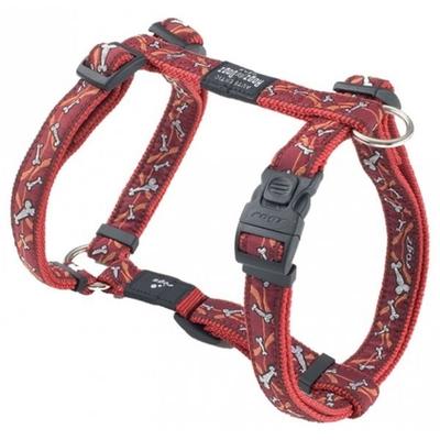Rogz Fancy Dress Cool Graphics Hundegeschirr, XL: Armed Response - Bones on red