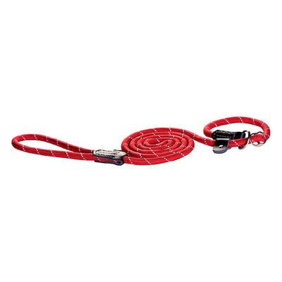 Rogz Rope Moxonleine für Hunde, rot / 12 mm