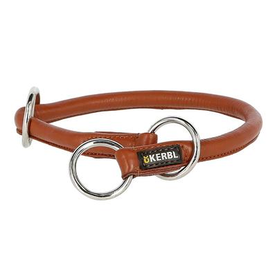 Kerbl Rundleder Schlupf Halsband Roma mit Stopper für Hunde