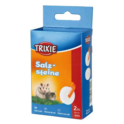 Trixie Salzstein Mineralstein mit Halter für Hamster und Mäuse