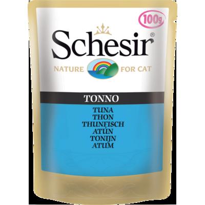 Schesir Katzenfutter im 100g Beutel, Thunfisch 20x100 g