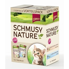 Schmusy Portionsbeutel Multibox Nature Kitten, 12x100g