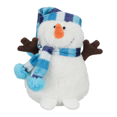TRIXIE Schneemann mit Pudelmütze Weihnachtsspielzeug für Hunde