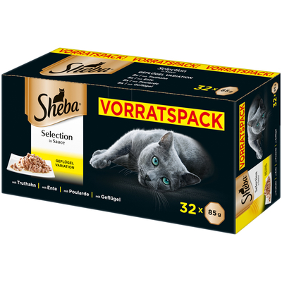 Sheba Schale - Selection in Sauce im Multipack