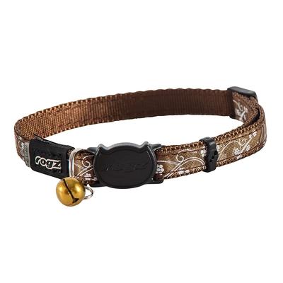 Silkycat - Katzenhalsband aus Satin, Bronze