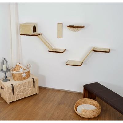 Silvio Design Katzen Kletterwand mit Treppe 8-teilig