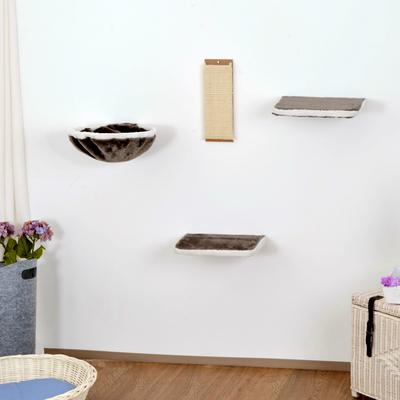 Silvio Design Kletterwand für Katzen 4-teilig, grau