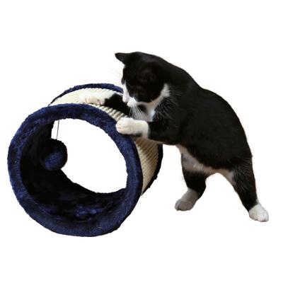 TRIXIE Sisal-Spielrolle für Katzen, ø 23 × 20 cm, blau