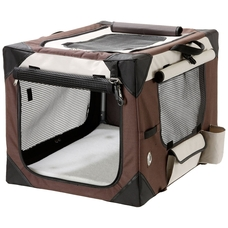 Smart Top Deluxe Hundebox Transportbox, L: 106 cm B: 71 cm H: 69 cm beige-braun