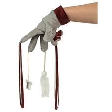 Spiel Handschuh für Katzen mit Spielzeugen, 30 cm, braun