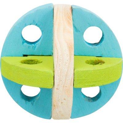 TRIXIE Spiel und Snackball aus Holz für Kleintiere
