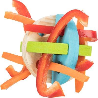TRIXIE Spiel und Snackball aus Holz für Kleintiere Preview Image