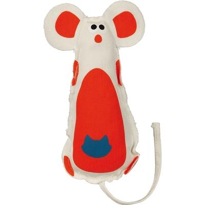 Stoff Maus Katzenspielzeug, Canvas, 15 cm, diverse Farben