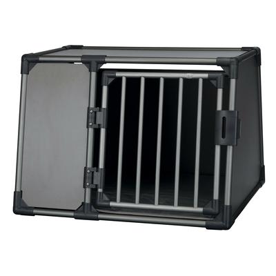 Trixie Autobox für Hunde aus Aluminium, graphit, L: 92 × 64 × 78 cm, graphit