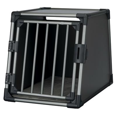 Trixie Autobox für Hunde aus Aluminium, graphit, M?L: 61 × 65 × 86 cm, graphit
