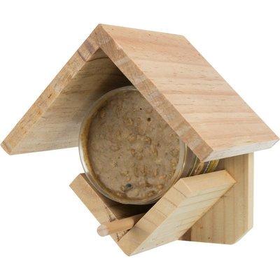TRIXIE Erdnusspasten Halter aus Holz