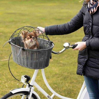 Trixie Fahrradkorb aus Polyrattan mit Gitter