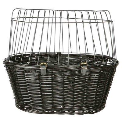 TRIXIE Fahrradkorb mit Gitter, schwarz