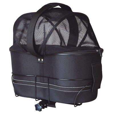 TRIXIE Fahrradtasche mit Metallrahmen für breite Gepäckträger