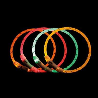 TRIXIE Hunde Leuchtring Nylon USB