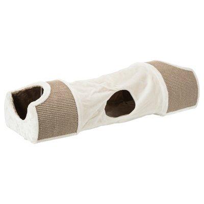 TRIXIE Kratztunnel für Katzen mit Plüsch Bezug Preview Image