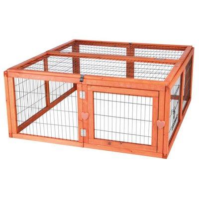 TRIXIE Natura Freilaufgehege aus Holz für Kaninchen
